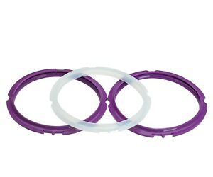 Instant-Pot-Rings-IP-3-Quart-Sealing-Ring-Purple-and-Clear-Set-of-1-2-or-3