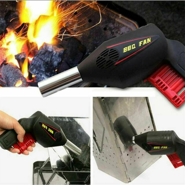 Manually BBQ Fan Air Blower Barbecue Tool Fire Bellows Portable