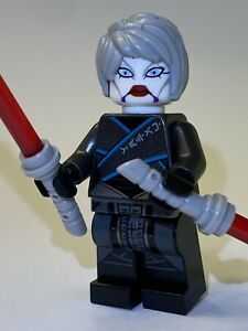 GENUINE LEGO STAR CLONE WARS Asajj Ventress Minifig with Double Lightsabers NEW