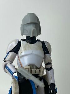 """Custom Star Wars Airborne Clone Trooper Helmet Black Series 6"""" 1//12"""
