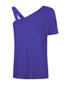 New-Ladies-Purple-Sleeveless-Off-The-Shoulder-Casual-Top-Blouse-Size-8