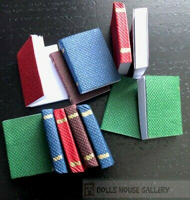 1:12 Scale Set Of 12 Opening Books For Reading Library Study Tumdee Dolls House