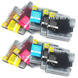 10x ink cartridges lc67 lc38 for brother mfc 6490cw mfc 255cw dcp 145c 185c 195c ebay. Black Bedroom Furniture Sets. Home Design Ideas