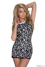 # Buisness Minikleid Abend Party Cocktail Kleid Spitzenkleid M L 38 40 ##5525