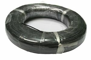 Black-6FT-2M-1Pin-Strip-Cable-24AWG-Silicon-300V-150Degree-UL-3239-Hookup-Wire