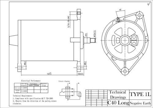 Negative Earth Dynamator Alternator Dynamo Conversion LUCAS C40L TRIUMPH 2000