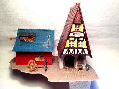 *** Casa-edifici *** Märklin-ho *** Reticolare Casa Balcone + + Fienile ** Top ** Super *** Rarità-e***mÄrklin-ho***fachwerkhaus+balkon+scheune**top**super***raritÄt It-it Mostra Il Titolo Originale Ultima Moda