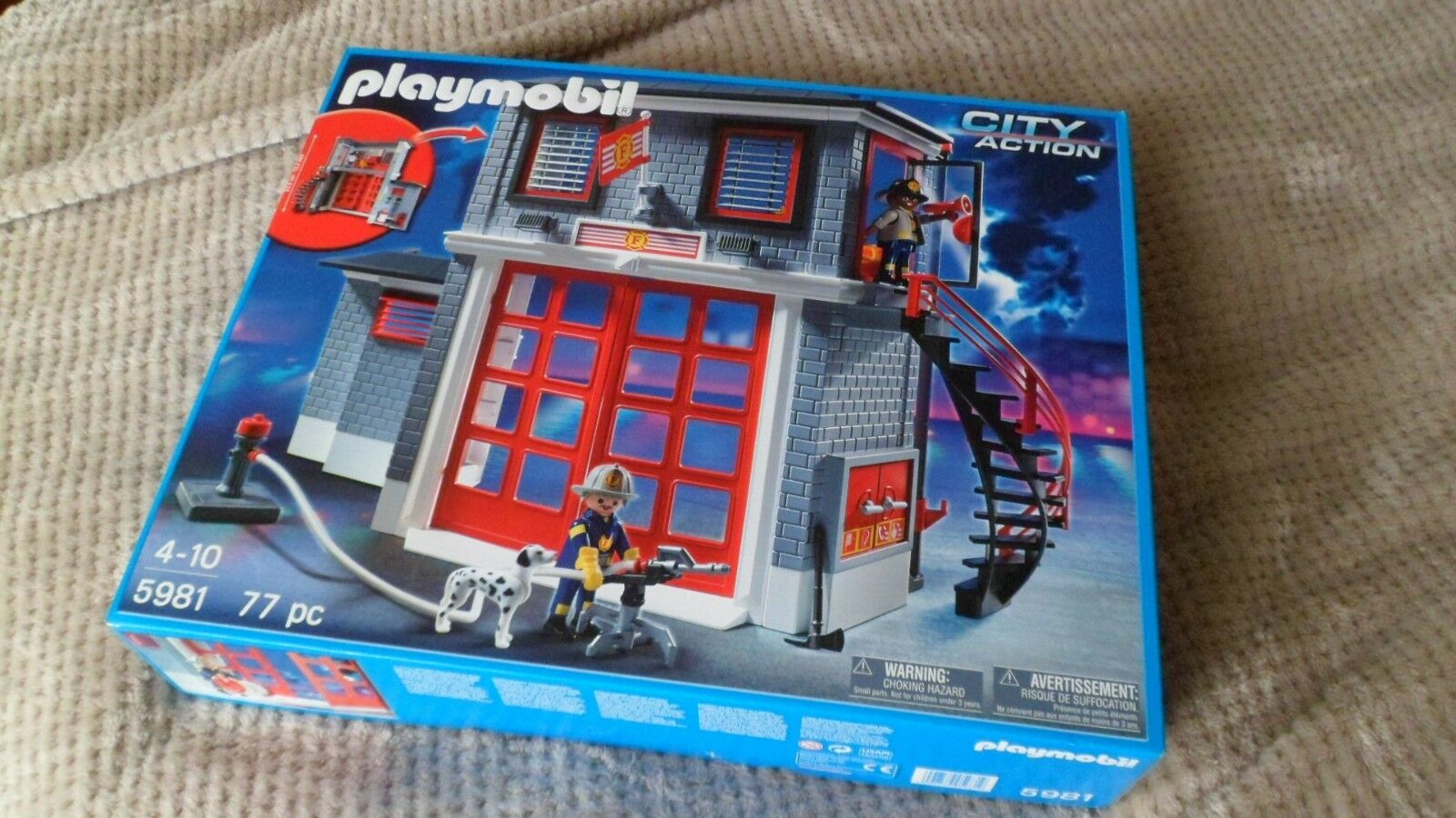 PLAYMOBIL FIRE RESCUE STATION 5981 CITY ACTION BRAND NEW SEALED