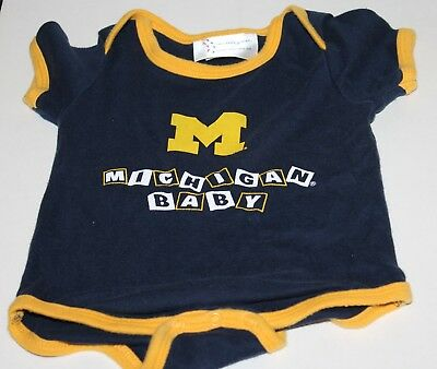 Michigan Wolverines Baby 0//3 3//6 6//9 Month #00 Mesh One Piece NCAA Navy A15