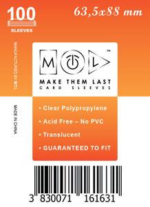 MTL Card Sleeves TCG: Size 63,5x88 100 PCS MTG, Rum & Bones, Arcadia Quest,