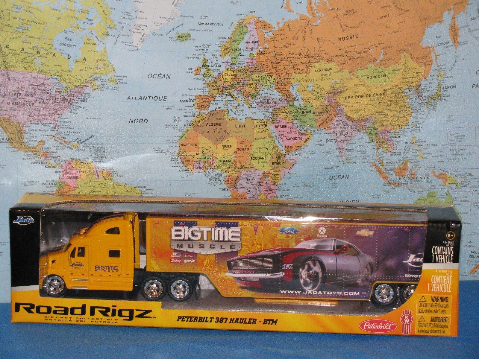 Jada Route Rigz Peterbilt 387 Camion Bigtime Muscle 14  ( 35cm) Tout Nouveau