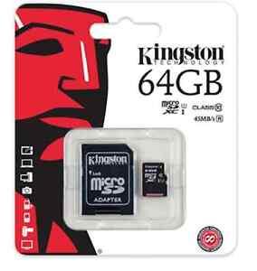 B0576363 64gb Scheda MicroSD Kingston SDHC Cl10 Uhs-i con Adattatore