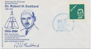 USA-1964-American-Rocket-Pioneer-Dr-Robert-H-Goddard-superb-CINDERELLA-FDC-R