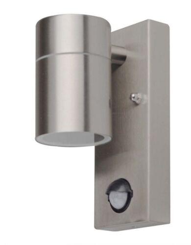 LED Aussenleuchte mit Bewegungsmelder Down Edelstahl  Gu10 LED 10298