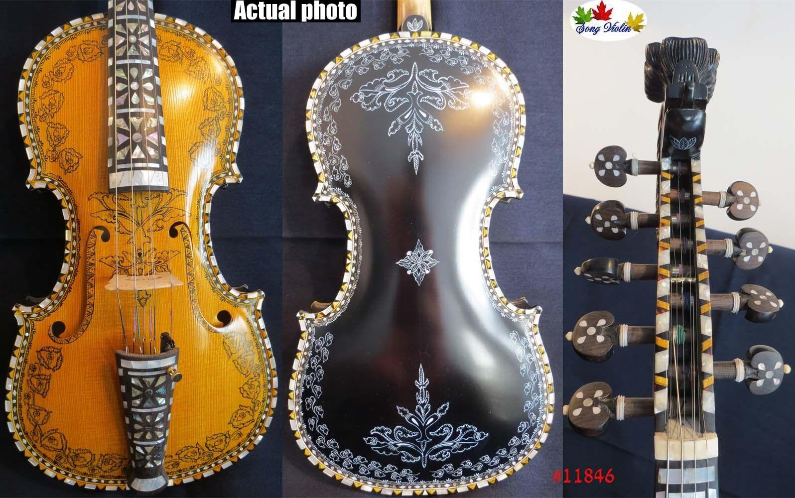 Deluxe hardanger Norwegian fiddle fiddle fiddle 4 4 violin 45 strings of professiona concert d41ca6