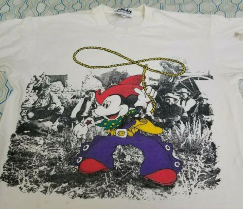 Vintage 90s Disney Mickey Jerry Leigh Cowboy Micke