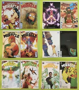 Mister-Miracle-1-12-Complete-Variant-Comic-Lot-Run-Set-DC-Tom-King-DC-NM-9-4