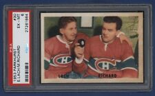 1953-54 Parkhurst Maurice Richard / E. Lach #30 PSA 6 EX-MT Canadiens 325th Goal