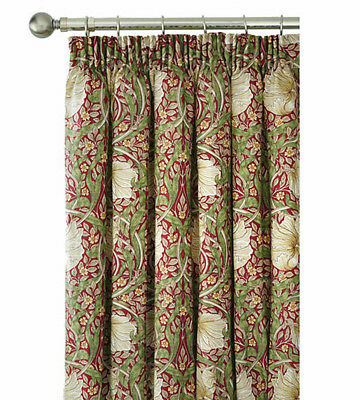 William Morris Pimpernel Fully Lined Curtains In Aubergine