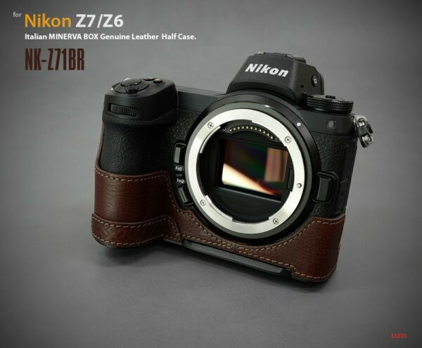 AgréAble Lim's Genuine Leather Camera Half Case & Queue D'aronde Plaque Pour Nikon Z7 Z6 Marron
