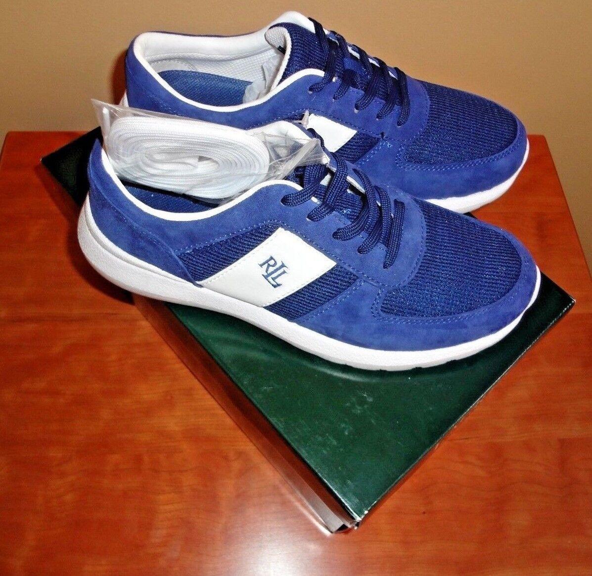 NWB Lauren by Ralph Lauren Blau/WEISS Spectator Jay Textile Training Schuhe sz 6.5