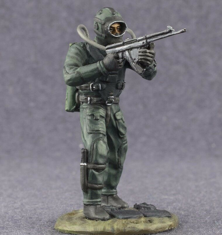 USSR Navy Diver 1 32 Soviet Army Painted Miniature Figure Toy Soldiers 54mm