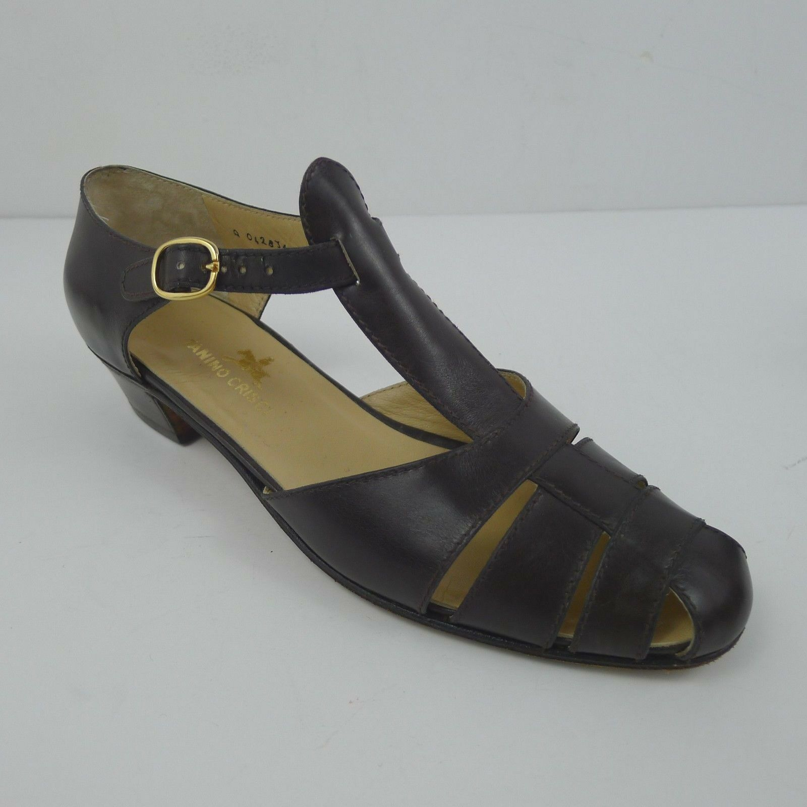 Vintage Tanino Crisci Crisci Crisci Donna  Low Heels Leather Sandals Made in  US 6.5 f04f27