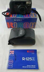 VINTAGE-Ricoh-R-125Z-Multi-AF-ZOOM-35mm-Camera-with-Manual-Case-amp-Original-Box