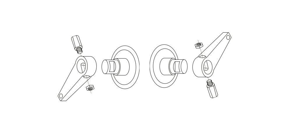 Kit de 2 clavette 9 9.5 mm vélo pédale pédalier manivelle vintage vis goujon vtt