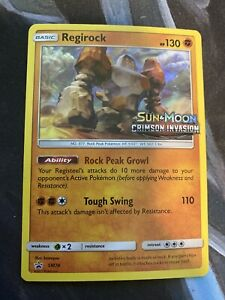 NM-PRERELEASE-Pokemon-REGIROCK-Card-BLACK-STAR-PROMO-Set-SM74-CRIMSON-INVASION