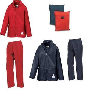 Kids-Result-Waterproof-Jacket-amp-Trousers-Rain-Suit-Rainsuit-Childrens-Boys-Girls