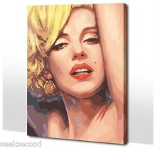 Acrylic Paint by Number kit 50x40cm (20x16'') Marilyn Monroe DIY PBN KL7004