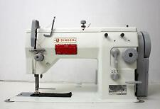 SINGER 20U109 Zig Zag Lockstitch Reverse Industrial Sewing Machine w/ Table 110V