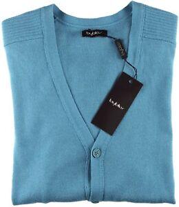 bottone in Italia Nwt M intero Byblos cotone lana turchese maglione Cardigan con vnRWFBYq