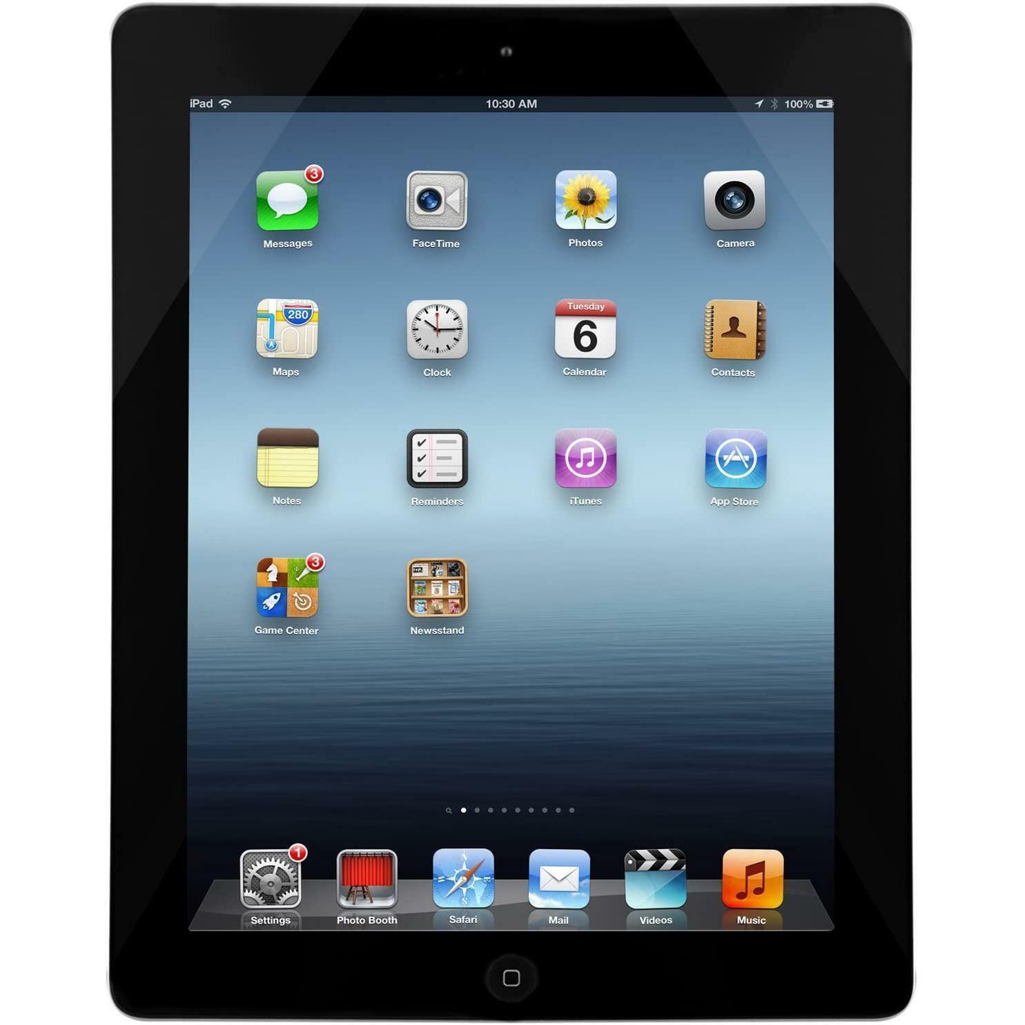 iPad: Apple iPad 4 32GB WiFi+Cellular Nero Black Grado A/B Rigenerato
