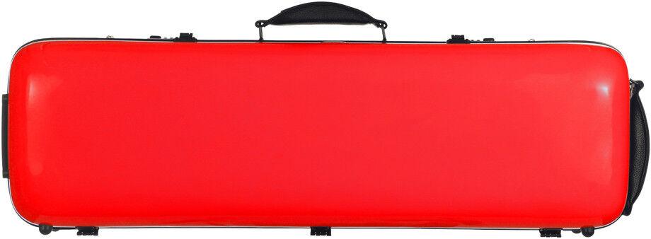 UK Fiberglass violin case Safe Oblong 4/4 M-case ROT
