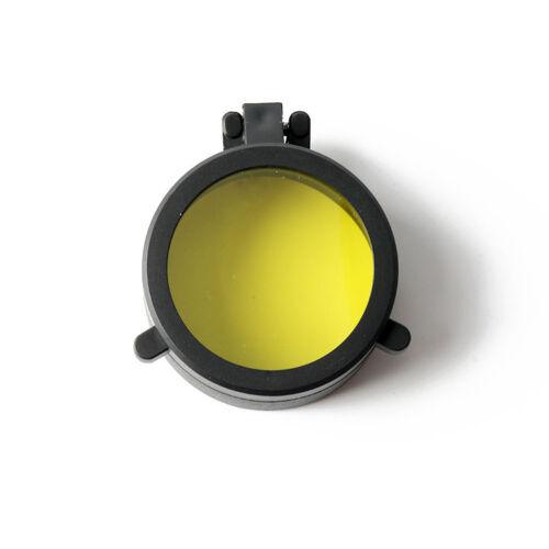 Yellow Dustproof Flip Open Rifle Scope Cover Cap Scope Cover Lens Covers Caps