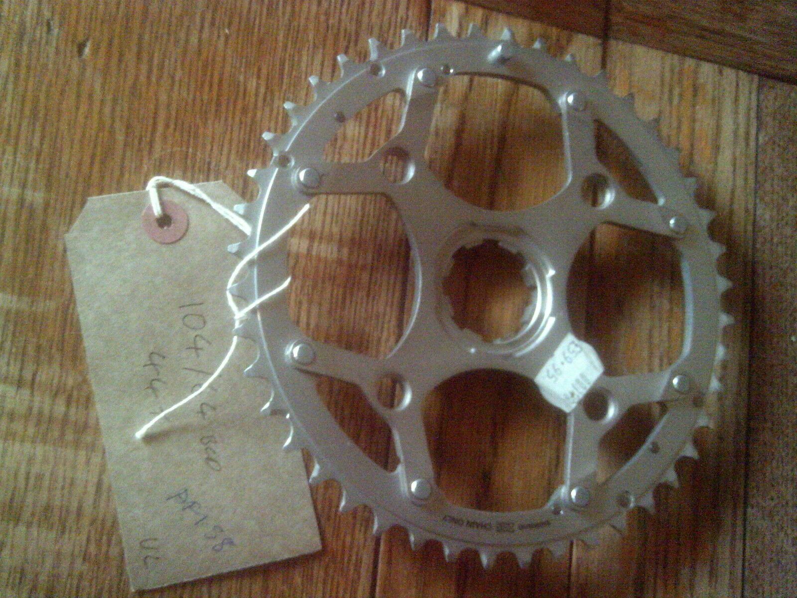 NOS 44 TOOTH 104 64BCD SHIMANO XTR SPLINED  CHAINRING, 1996 XTR
