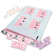 Upaknship 10x13 Cats Designer Poly Mailers Shipping Envelopes