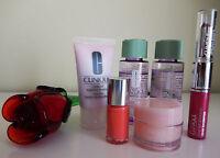 Clinique Cosmetics 6 Piece Lot Make Up Remover, Nail Polish, Lip Gloss, Creme