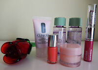 Clinique Cosmetics 6 Piece Lot Make Up Remover, Nail Polish, Lip Gloss, Creme