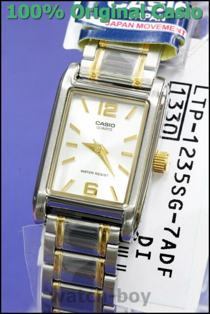 93265ab43 Casio Mtp1235sg-7a Mens Gold Two Tone Stainless Steel Square Analog Dress  Watch