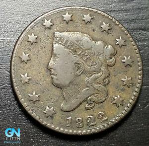 1822 Coronet Head Large Cent   --  MAKE US AN OFFER!  #K3573