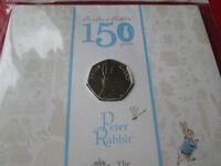 Beatrix Potter Coins 2016 UK 50p Coins BUNC MINT CONDITION SEALED
