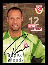 Rene Renno AUTOGRAFO carta Energia Cottbus 2013-14 original sign + a 158873