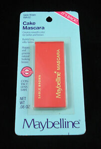 2201f0f1b77 Image is loading Vintage-Maybelline-Cake-Mascara-Creamy-Smooth-Color-Lashes-