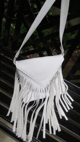 Winters Emma Messanger White Italian Leather Fringe Handbag//Purse NEW! J J