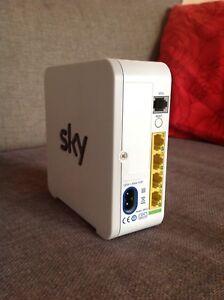 AgréAble Sky Routeur Hub Blanc Avec Tous Les Fils & Microfiltre Electronics Wi-fi Brand-afficher Le Titre D'origine