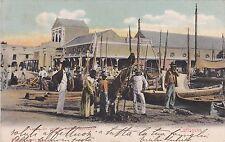COLOMBIA - Cartagena - Venta de carbon en el Mercado 1909