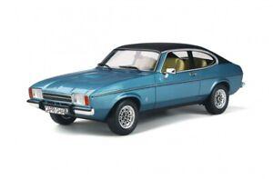 OTTO-MOBILE-810-FORD-CAPRI-Mk-2-3-0-Ghia-model-road-car-Miami-blue-Ltd-Ed-1-18